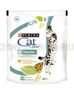 Корм Cat Chow Sterilised для стерилизованных кошек, с домашней птицей, 400 г